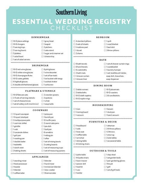 25  best ideas about Wedding registry checklist on