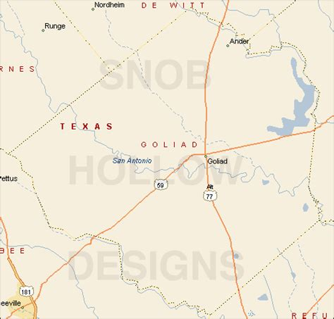 map of goliad texas goliad county texas color map
