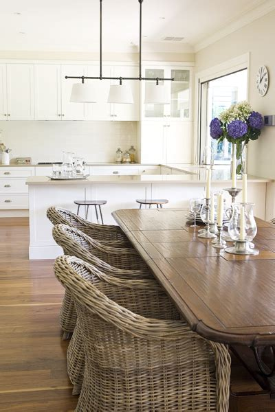kitchen table with wicker chairs wicker dining chairs cottage dining room house beautiful