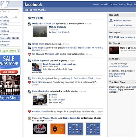 how to open full version of facebook on iphone the first version of the facebook news feed appeared in