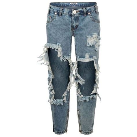 ripped skinny jeans polyvore one teaspoon freebirds distressed skinny jeans 190
