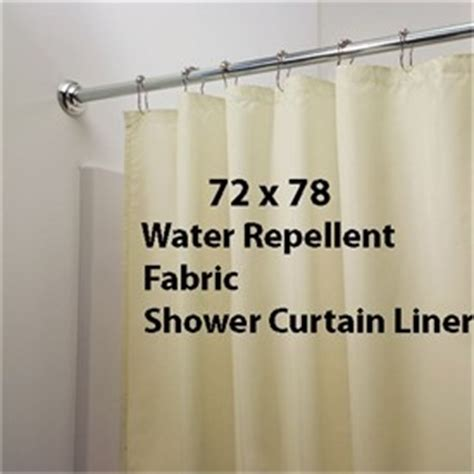 water repellent fabric shower curtain white 78 quot long water repellent fabric shower curtain liner