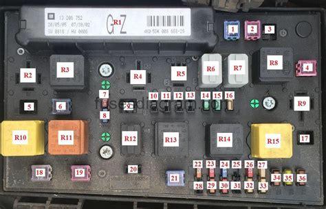 vauxhall zafira b rear fuse box wiring diagram 2018