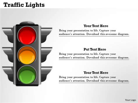 traffic management template traffic lights powerpoint template slide graphics