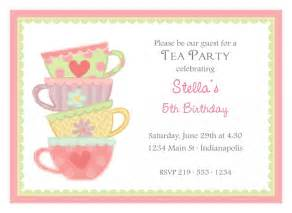 high tea invitation templates free