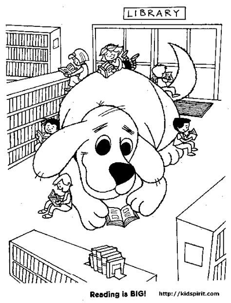 reading dog coloring page clifford coloring pages free coloring book pages