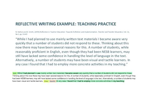 Reflective Practice In Teaching Essay by Reflecting On Reflective Writing Analytics Lak16