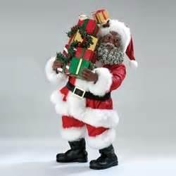 amazon com 10 quot fabriche black santa claus with gift