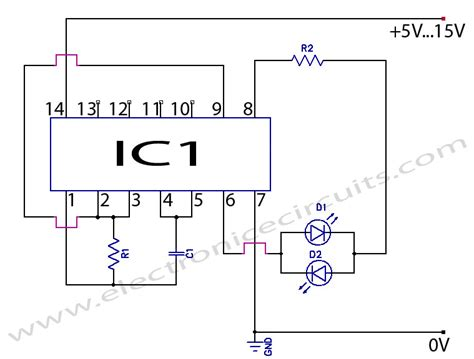 led circuits diagrams 2 led cmos flasher circuit diagram electronic circuits