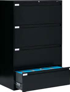 Office Lateral Filing Cabinets Metal 4 Drawer Lateral File Cabinet Office Furniture Ebay