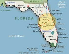 florida landform map what region is florida in