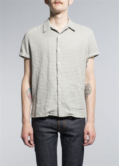 pattern bowling shirt nudie jeans s s 2015 collection by marcus troy details