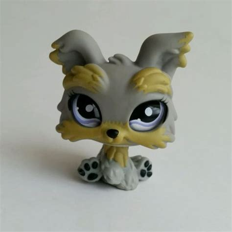 littlest pet shop yorkie lps yorkie littlest pet shop purple glass 883 euc what s it