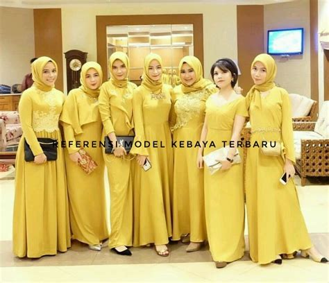 Gamis Keluarga Gamis Syari Dress Kakak Adik model gaun kondangan warna kuning specialist kebaya gaun