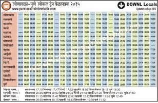 pune local time table 2017