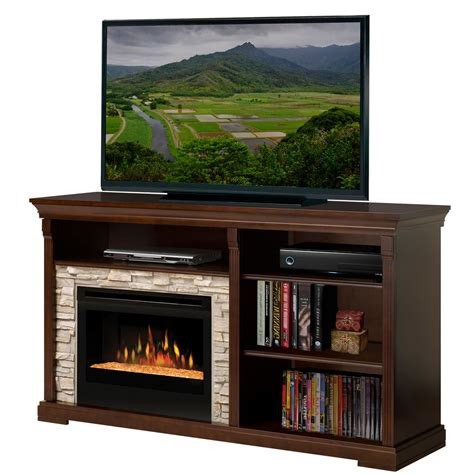 media stand with fireplace dimplex edgewood electric fireplace media console with glass embers gds25g 1269e