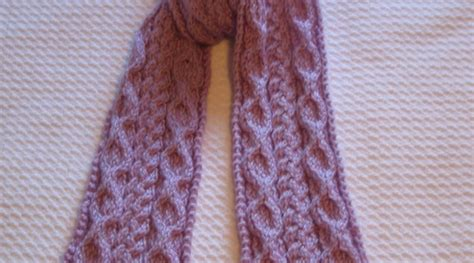 pattern knitting scarf cable cable knit scarf pattern a knitting blog