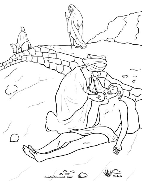 coloring page for good samaritan printable coloring page for parable of the good samaritan vbs