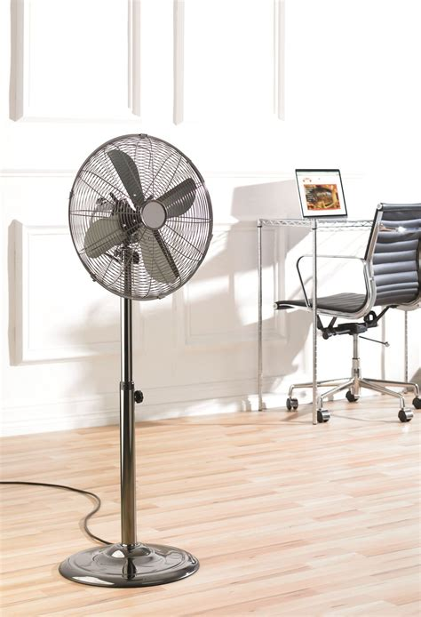 challenge 16 inch pedestal fan chrome fine elements 16 quot inch oscillating gun chrome