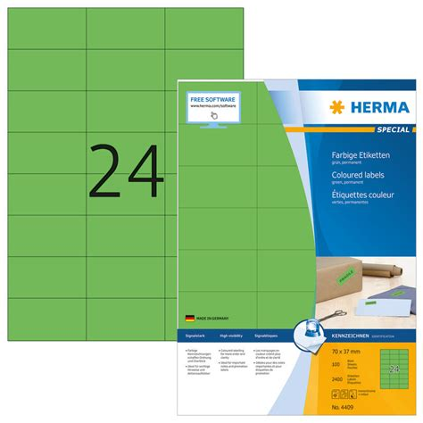 Etiketten 70 X 37 Mm by Herma Etiketten 4409 70 X 37 Mm 100 Blatt Officeworld Ch
