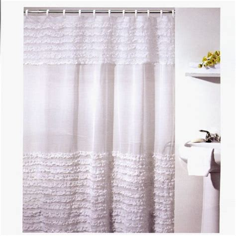 amazon bathroom shower curtains ruffled shower curtains infobarrel