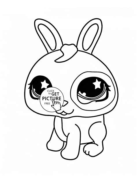 littlest pet shop coloring pages bunny littlest pet shop cute bunny coloring page for kids