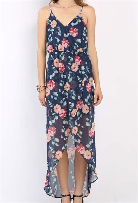 Maxi Dress Dress Motif flower pattern chiffon maxi dress shop maxi dresses at papaya clothing