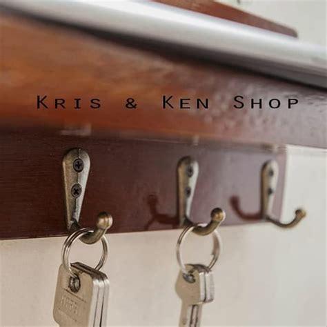 jual tempat rak gantungan kunci dinding tembok key holder kayu  lapak kris  ken shop