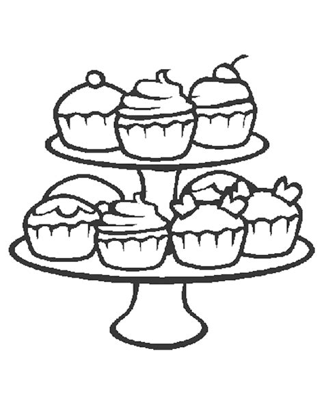 mini cupcake coloring page kleurplaat cupcakes 187 animaatjes nl