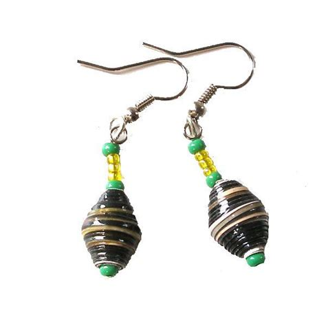 Earrings With Paper - paper bead earrings paper bead earrings and