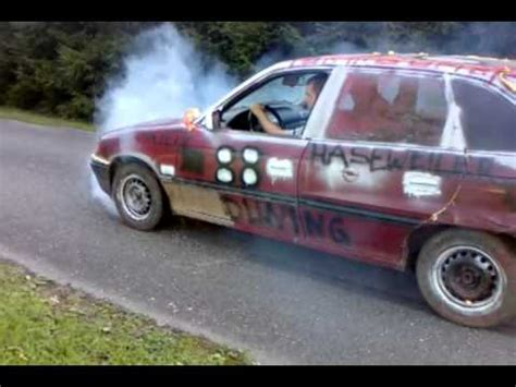 opel rat rat look opel astra f burnout