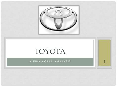 Toyota Financial Login Financial Analysis Of The Toyota Company