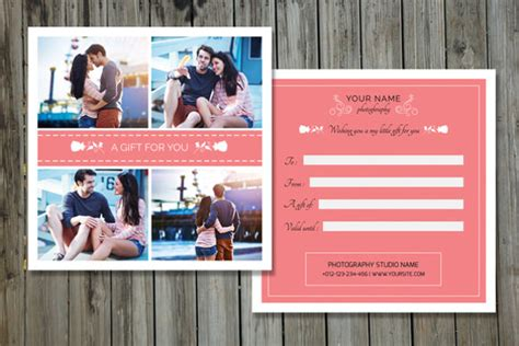 gift card template photoshop photography gift certificate templates 17 free word