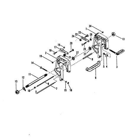 mercury marine xd hp clamp bracket assembly parts