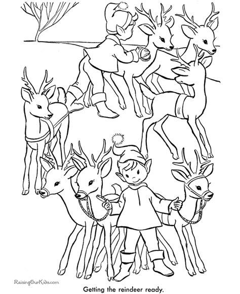 printable christmas coloring pages reindeer printable reindeer christmas coloring pages 005