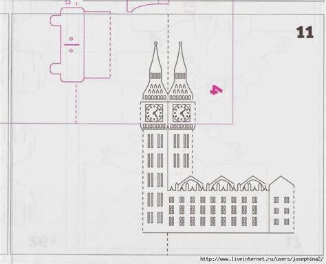 3d Paper Cards Template by Big Ben киригами русска обсуждение на Liveinternet