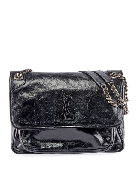 saint laurent niki medium monogram ysl shiny leather
