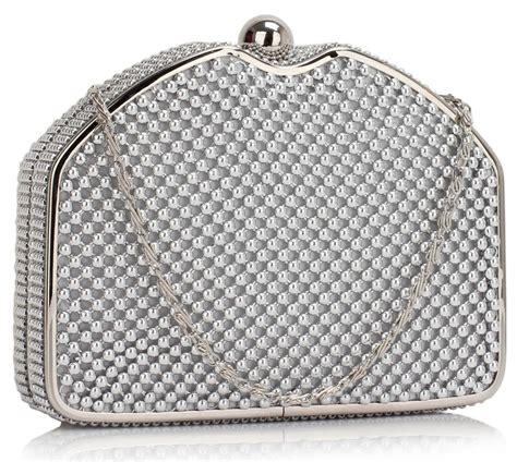 silver beaded clutch lse00303 silver beaded clutch bag