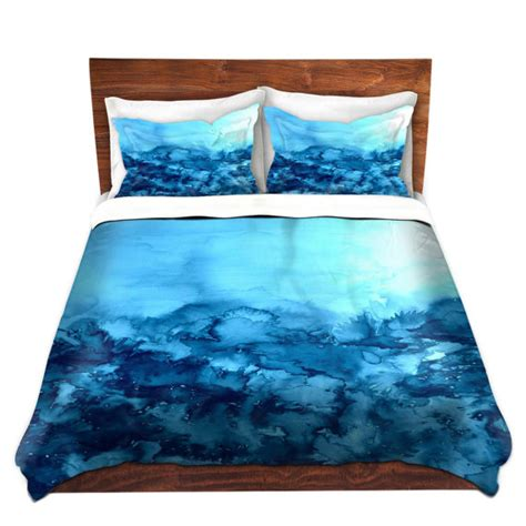 art bedding turquoise blue fine art duvet covers king queen twin nature
