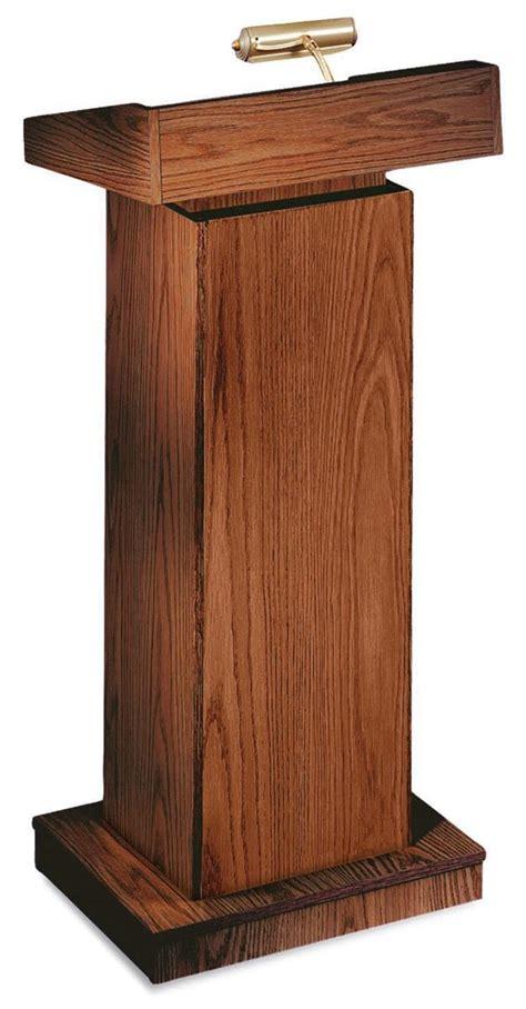reading floor ls adjustable adjustable height lectern medium oak podium with l
