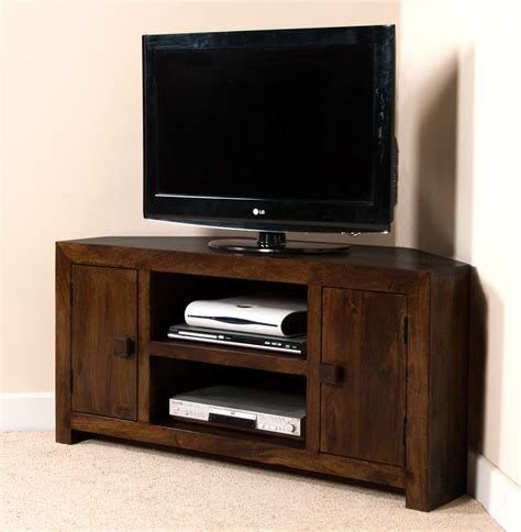 Ebay Dining Room Sets dark mango wood corner tv unit stand large media unit