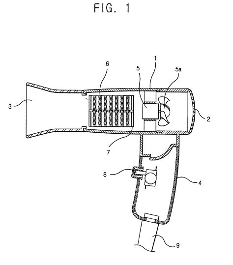 Hair Dryer Energy Transfer Diagram patent ep0919154a2 hair dryer patents