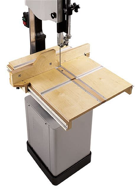 woodworking fixtures bandsaw table system woodworking plan from wood magazine