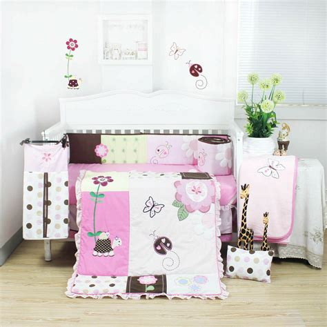 nursery cot bedding sets 8 pieces beautiful pink flower baby crib cot bedding quilt set klf368 791512599846 ebay