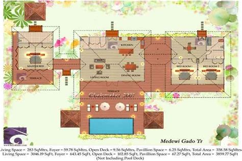 tropical house floor plans tropical house plans escortsea