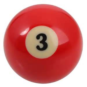 Details about single 3 billiard pool ball replacement 2 25 inch