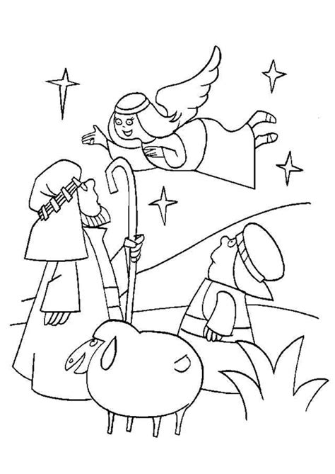 coloring pages of the shepherds and the angels coloriage noel l ange et les bergers hugolescargot com