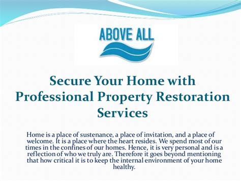 secure your home with professional property restoration