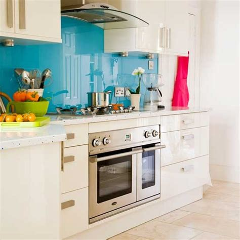 splashback ideas white kitchen blue splashback kitchen kitchens kitchen ideas image