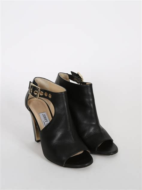 Jimmy Choo Belted Bag by Jimmy Choo Black Leather Belted Detail Open Toe Ankle